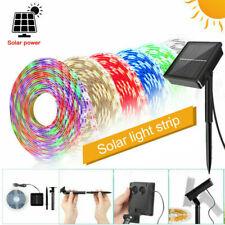 1-5m Solar Powered LED Strip Lights Flexible Tape Garden Fence Light Outdoor