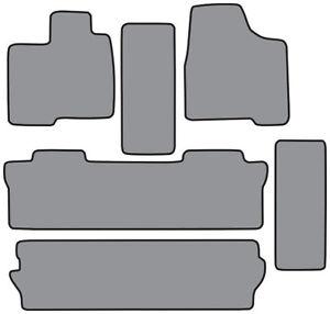 6pc Cutpile Carpet Floor Mat for 2004-2010 Toyota Sienna
