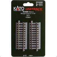 Kato 2-111 Rail Droit / Straight Track 94mm 2pcs - HO