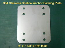 """Boat Flats Skiff Stainless Shallow Water Power Anchor Pole Mount Plate 1/8"""" thk"""