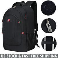 "17.3"" Laptop Backpack Anti Theft Waterproof USB Mens Outdoor Business School Bag"