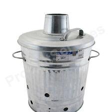 Prima Mini iron Metal Garden Incinerator Fire Burning Bin with Locking