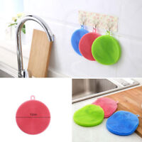 Soft Silicon Double-Side Dish Cleaner Scrubber Bowls Washing Scouring Pad Sponge