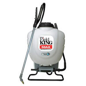 FIELD KING MAX 190348 Backpack Sprayer,4 gal.,Poly,150 psi