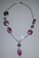 Kette PERLALUCE. Purple Stone. NEU!!! KP 29,99 €
