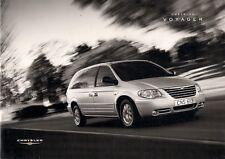 Chrysler Voyager & Grand Voyager 2004 UK Market Sales Brochure SE LX Limited XS