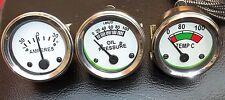 Massey Oil Pressure Female Temp  Amp Gauge Set TE20,TO20,TO30,T035,F40 Tractor