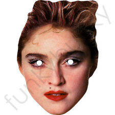 Madonna 1980's 80s Retro Celebrity Singer Pre-Cut Card Mask Fun For Parties