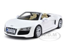 2011 AUDI R8 SPYDER V10 WHITE 1:24 DIECAST MODEL CAR BY MAISTO 31204