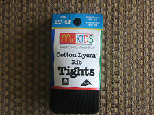 McKIDS GIRLS TIGHTS  SIZE 2T-4T BLACK RIB NEW IN PACKAGE!