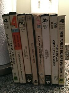 LOT OF 8 REEL TO REEL TAPES, ,Herb Alpert, Blood Sweat& Tears & MORE Tested