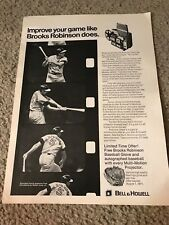 1971 BELL HOWELL PROJECTOR Print Ad BROOKS ROBINSON GLOVE SIGNED BASEBALL OFFER