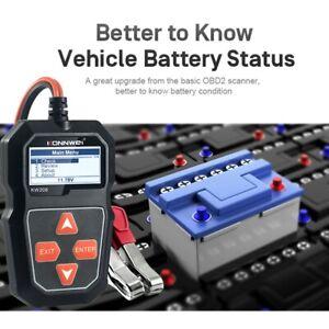 KW208 Battery Tester Car Digital 100-2000CCA 12V Cranking Charging System Test O