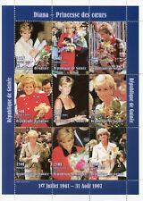 Guinea 1998 MNH Princess Diana of Wales 9v M/S Royalty Stamps