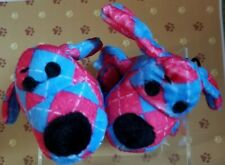 2 Multipet LOOFA Fetch Chew Crinkle Squeaky Dog Puppy Toy Blue Red Argyle 6""