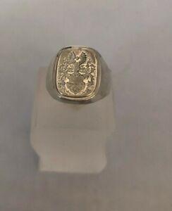 Siegelring,Wappenring 925 Sterlingsilber,Feines Wappen
