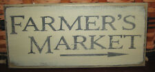 "Primitive Country Farmer'S Market 12"" Sign"