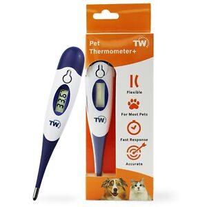 DOG THERMOMETER PET ANIMAL HORSE CAT FAST AND FLEXIBLE TIP VET VETERINARY IN-233