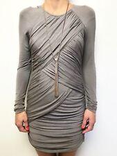 KJ KIRRILY JOHNSTON  taupe long sleeve body con dress sz 3