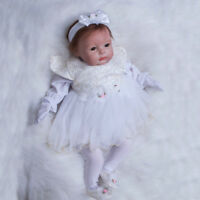 22Inch Lifelike Silicone Vinyl Reborn Baby Dolls Realistic Lovely Girl Toddler