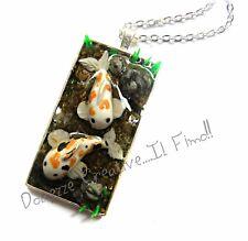 Collana Laghetto di Carpe Koi Japan Stagno in miniatura handmade miniature fimo