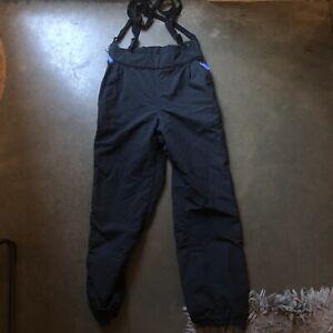 Women's Vintage 90's Patagonia Suspender Snow Guide Black Bib Winter Pants Sz 10