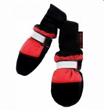 Muttluks Original Fleece-Lined Dog Boots Red Size Large