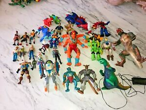 Vintage Action Figure Mixed Lot (29) FIgures 1980's- 2000's Godzilla Monsters ++