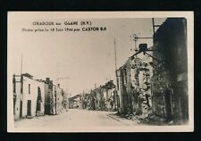 France Military WW2 Oradour Sur Glame days after German Massacre RP PPC