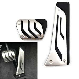Stainless Steel Foot Gas Brake Pedals Cover Kit For BMW 1/2/3/4/5/6/7/8 Series