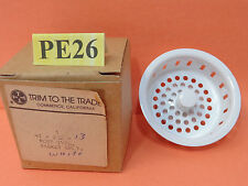 NOS NEW TRIM TO THE TRADE SINK DRAIN BASKET 4T-232-13 WHITE POST TYPE