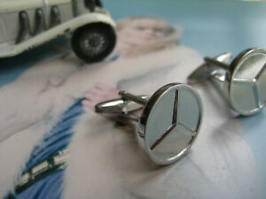 noble MERCEDES cuff links Manschettenknöpfe Benz Merzedes cufflinks запонки