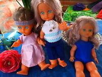 les  poupées  bella 35cm  des années 60 ,neuves ,l ,au choix