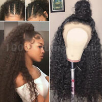 Top Indian Real Human Hair Full Lace Wigs Curly Black Lace Front Wig Pre Plucked