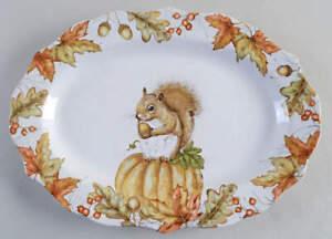 Pier 1 Mazey the Squirrel Oval Serving Platter 11064504