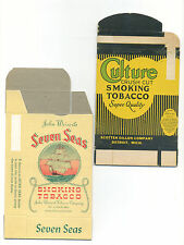 2 different tobacco boxes - never folded - Culture & Seven Seas
