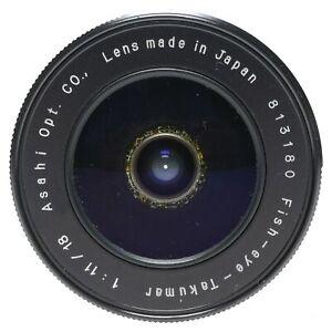 Asahi Fish-Eye-Takumar 1:11/18 Pentax Camera Lens