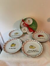 """New in Gift Box Cheeses of Nazareth Four 6.5"""" Porcelain Plates Whimsy Collection"""