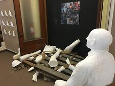 Art work Life size human. They are all white body parts. Great for halloween