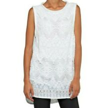 REPLAY CHIFFON TUNIC TOP WHITE EMBROIDERED SIZE S TAG PRICE £140 IDEAL GIFT