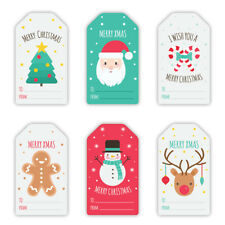 6 Cute Christmas Decor Stickers - Christmas Gift Card Labels, Snowman, Reindeer