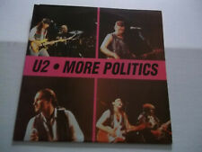 U-2 - More Politics (1990) rare live double LP Not Tmoq Color vinyl NM