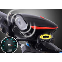 USB wiederaufladbare Fahrradklingel Fahrradhorn Lichtscheinwerfer Radfahren LXUI