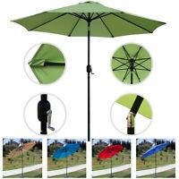 9Ft Patio Umbrella Parasol Yard Sun Shade Market Steel Tilt W/ Crank Outdoor New