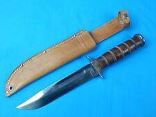 Vintage US Camillus Sword Brand Military MK2 Fighting Knife w/ Sheath