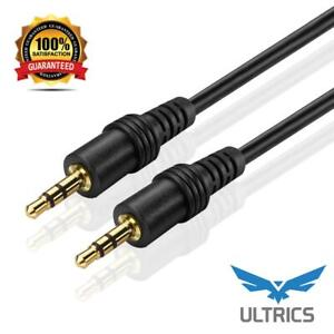 3.5mm Audio AUX Cable Male To Male Stereo Auxiliary Cable Lead Android iPhone 1m