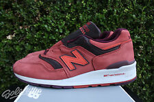NEW BALANCE 997 SZ 10 MADE IN USA CLAY RED BURGUNDY M997DTAG