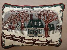 Free Shipping! Snowy Homestead Pillow - Home for the Holidays - Nwot -Christmas