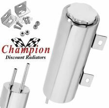 """3"""" x 16"""" POLISHED STAINLESS STEEL 50 OZ WR RADIATOR CATCH CAN, OVERFLOW TANK"""