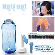 300ML Nasen Putzen Neti Nasendusche Flasche Nasenspüler Nasal Reiniger Topf